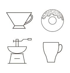 Coffee drink shop design vector