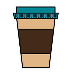Coffee glass container icon vector