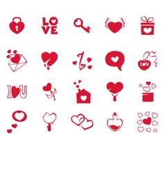 Collection icons for valentines day vector image vector image