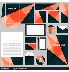 Corporate identity business set vector image vector image