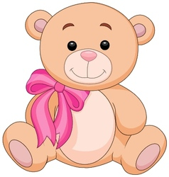 Cute brown bear stuff cartoon vector image vector image
