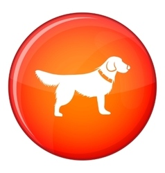Dog icon flat style vector