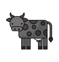 Farm cow isolated icon vector