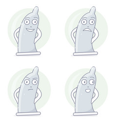 funny and comic condom character vector image vector image