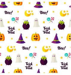 halloween treat seamless pattern vector image