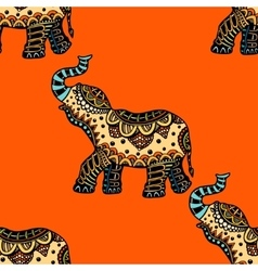 Hand Drawn Ethnic Elephant vector image vector image