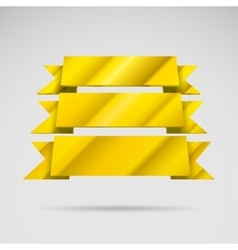 Infographic 3D golden ribbons vector image