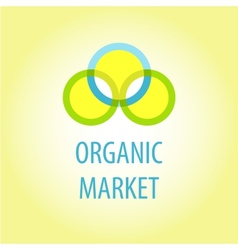 Organic market logo vector