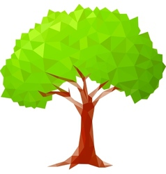 polygonal tree vector image