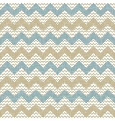 Seamless chevron pattern on linen texture vector image