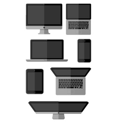 Set of isolated gadgets vector image vector image
