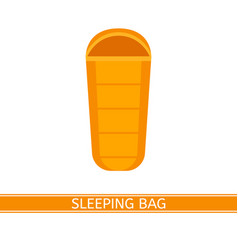 sleeping bag icon vector image