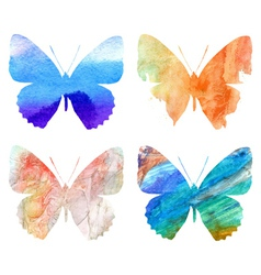 Watercolor butterflies vector