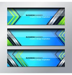 Business banner modern design vector