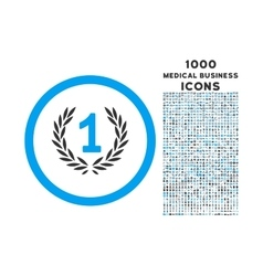 Win emblem rounded icon with 1000 bonus icons vector