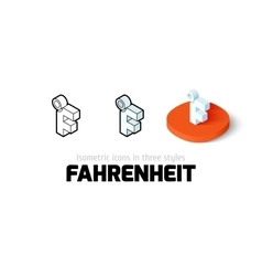 Fahrenheit icon in different style vector