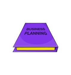 Business plan notebook icon cartoon style vector