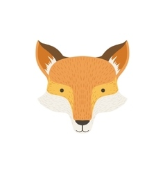 Fox head as a national canadian culture symbol vector