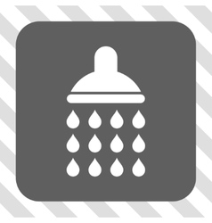 Shower rounded square button vector