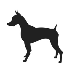 Black male doberman silhouette vector