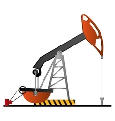 Oil rig icon image vector