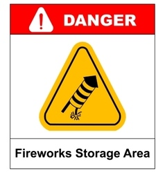 No fireworks warning icon vector