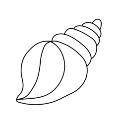 Sea shell creature vector