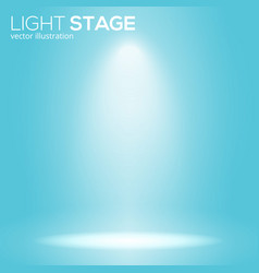 White bean light on round scene spotlight stage vector