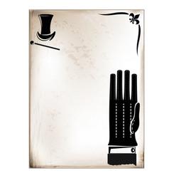 Vintage card male glove vector