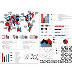 Infographic demographics vector