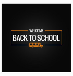 Back to school line logo background vector