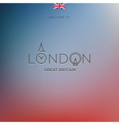 World Cities labels - London vector image