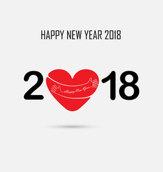 2 0 1 8 and hand sign with holiday background vector image vector image