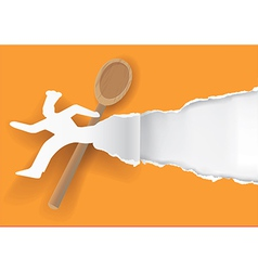Quick chef paper concept vector image