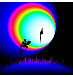 funky grass at night vector image