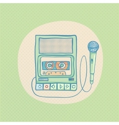 Handheld tape recorder vector
