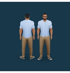 Men in pants and shirt vector