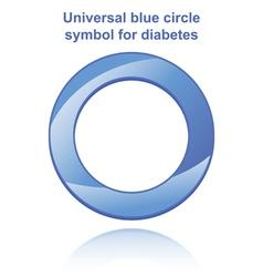 Universal blue circle vector image