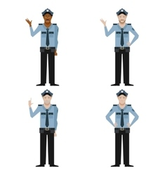 Set of police men vector