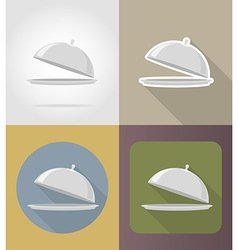 Objects for food flat icons 01 vector