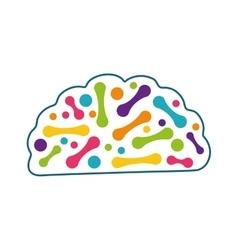 Brain icon human head design graphic vector