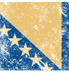Bosnia and herzegovina retro flag vector