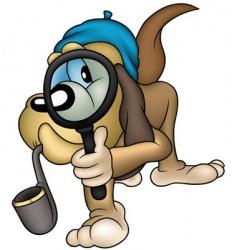 dog detective vector image