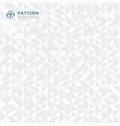 abstract pattern of geometric shapes white and vector image