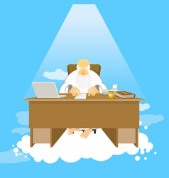 Boss of paradise god job almighty of work place vector