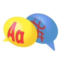 Bubble speech with foreign languages icon vector image