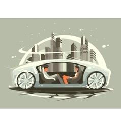 Car of future vector image