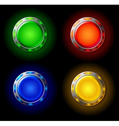 Creative buttons vector image