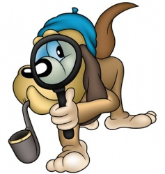 dog detective vector image vector image
