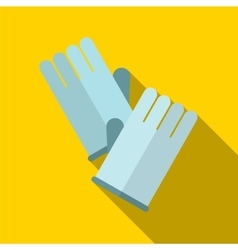 Glove flat icon vector image vector image